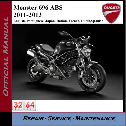 Pay for Ducati Monster 696 ABS 2011-2013 Workshop Service Repair Man