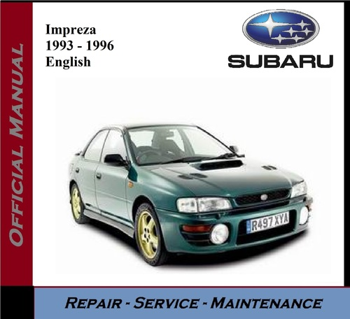 1993 Subaru Justy Transmission: 1996 Service Repair Manual