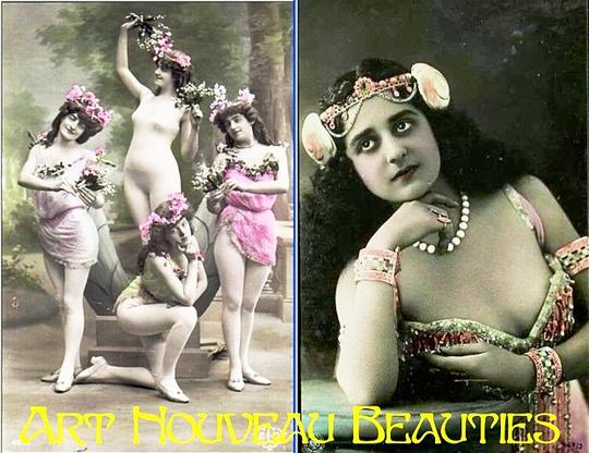 Pay for Art Nouveau Beauties - PDF Vintage Postcard Album / Slideshow
