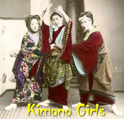 Pay for Kimono Girls - PDF Slideshow: Vintage Photos & Postcards