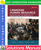 Thumbnail Canadian Human Resource Management: A Strategic Approach 12th Edition Solutions Manual by Schwind, Uggerslev, Wagar, Fassina
