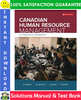 Thumbnail Canadian Human Resource Management: A Strategic Approach 12th Edition Solutions Manual + Test Bank by Schwind, Uggerslev, Wagar, Fassina