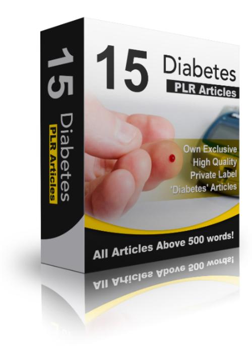 Pay for 15 Diabetes PLR Articles