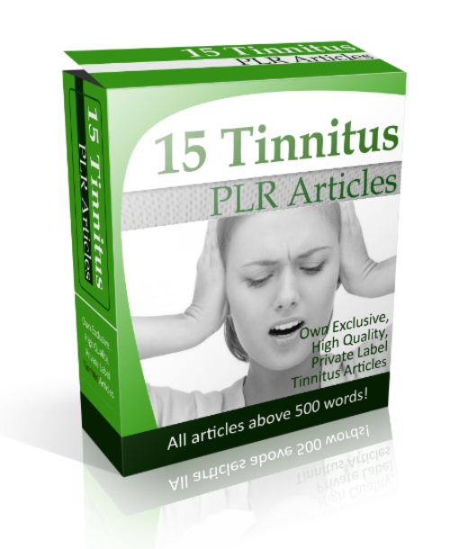 Pay for 15 Tinnitus PLR Articles