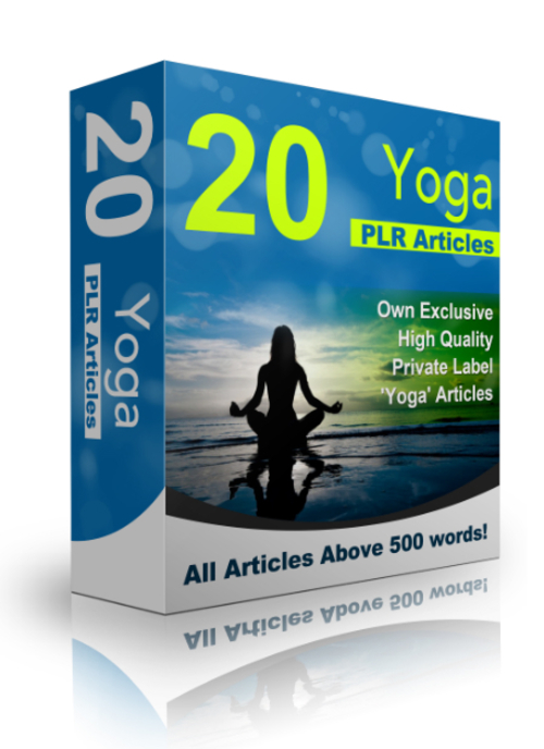 Pay for 20 Yoga PLR Articles