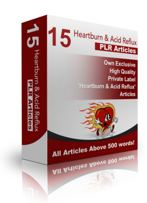 Pay for 15 Acid Reflux & Heartburn PLR Articles + Bonus!