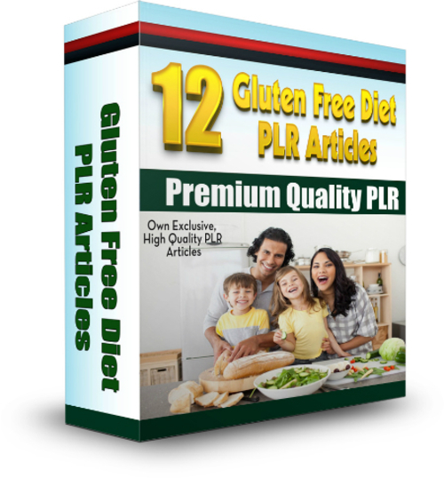 Pay for 12 Gluten-Free Diet PLR Articles