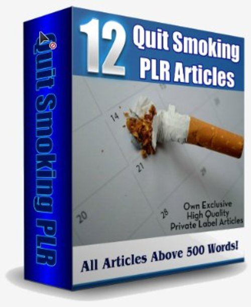 Pay for 12 Stop Smoking PLR Articles