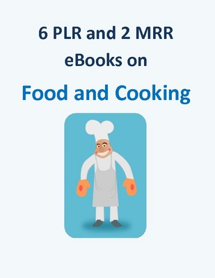 Pay for 6 PLR and 2 MRR ebooks on Food and Cooking + 10 Bonuses