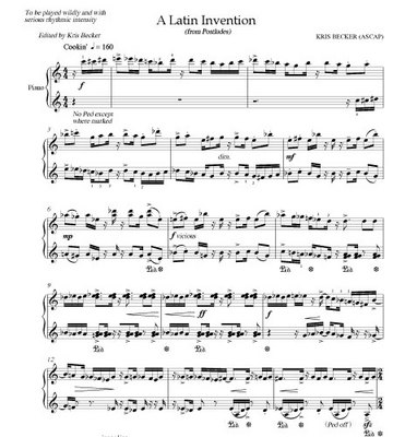 Kris becker a latin invention download sheet music for Becker payment plan