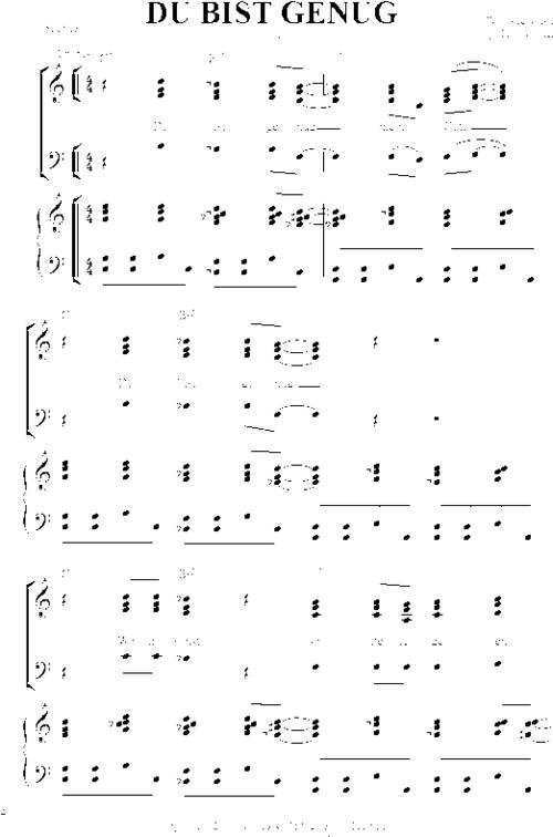 Pay for Du bist genug - Noten für Klavier und Chor