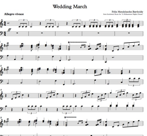 Pay for Wedding March