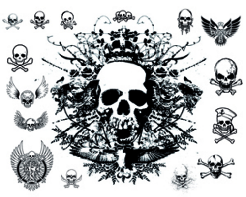 Pay for 50 Tattoo Skull Vector Designs