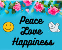 Thumbnail Peace Love Happiness Printable Wall Art