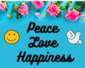 Thumbnail Peace Love Happiness Printable Wall Art
