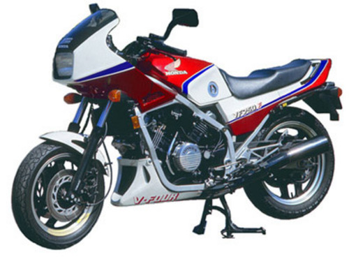 Honda VF 750 (Interceptor) red design. Interceptor is a type of body armor