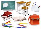 Thumbnail School Items Vector EPS