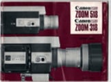 Thumbnail CANON ZOOM 518 & 318 SUPER 8 CAMERA MANUAL