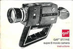 Thumbnail GAF ST111E SUPER 8 CAMERA MANUAL