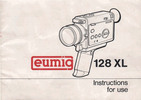 Thumbnail EUMIG 128 XL SUPER 8 MOVIE CAMERA MANUAL