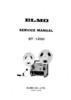 Thumbnail ELMO ST-1200 SUPER 8 PROJECTOR SERVICE MANUAL