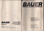 Thumbnail BAUER ROYAL 6E, 8E MAKRO, 10E SUPER 8 CAMERA MANUAL