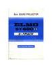 Thumbnail ELMO ST600D SUPER 8MM PROJECTOR MANUAL