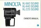 Thumbnail MINOLTA XL-660, XL-440 & XL-225 SOUND SUPER 8 CAMERA MANUAL