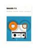 Thumbnail BAUER T5 SUPER 8 PROJECTOR MANUAL