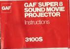 Thumbnail GAF 3100S Super 8 Sound Projector