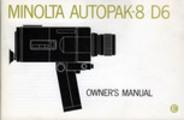 Thumbnail MINOLTA AUTOPAK-8 D6 SUPER 8 CAMERA MANUAL-ENGLISH