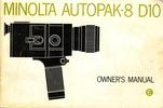 Thumbnail MINOLTA AUTOPAK D10 SUPER 8 CAMERA MANUAL