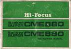 Thumbnail SANKYO CME 880 SUPER 8 CAMERA MANUAL