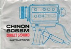 Thumbnail Chinon 806 SM Direct Sound Super 8 Movie Camera Manual