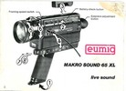 Thumbnail Eumig 65 XL Makro Sound Super 8 Camera Manual