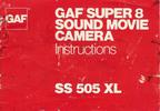 Thumbnail GAF SS 505XL Super 8 Camera Manual