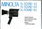 Thumbnail MINOLTA XL SOUND 42-64-84 SUPER 8 CAMERA MANUAL