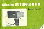 Thumbnail MINOLTA AUTOPAK-8 K11 SUPER 8 CAMERA MANUAL