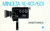 Thumbnail MINOLTA XL 401-601 SUPER 8 CAMERA MANUAL