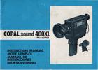 Thumbnail COPAL 400XL MACRO SUPER 8 CAMERA MANUAL