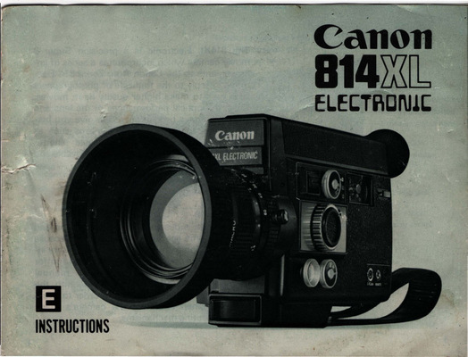 Pay for CANON 814XL ELECTRONIC BLACK SUPER 8 CAMERA MANUAL