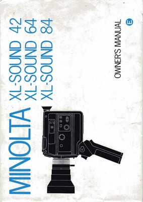 Pay for MINOLTA XL SOUND 42, 64, 84 SUPER 8 CAMERA MANUAL ENGLISH