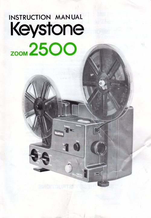 Pay for KEYSTONE ZOOM 2500 DUAL 8 PROJECTOR MANUAL