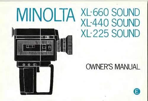 Pay for MINOLTA XL-660, XL-440 & XL-225 SOUND SUPER 8 CAMERA MANUAL