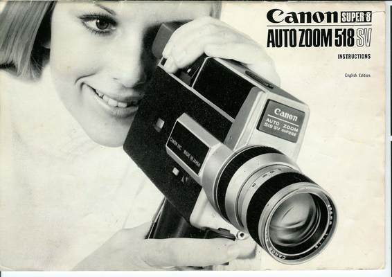 Pay for CAnon 518SV Super 8 Movie Camera Manual
