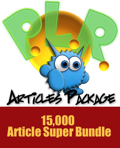Pay for 15000 Article PLR Super Bundle