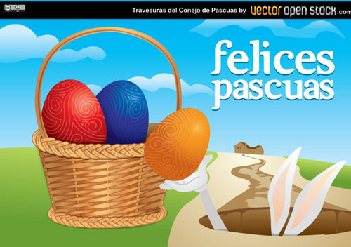 Pay for Easter Vector Illustration