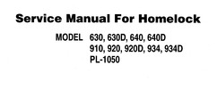 Thumbnail Brother Sewing Machine 630d Service Manual