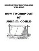 Thumbnail Vintage Book HOW TO CAMP OUT By JOHN M. GOULD 1877