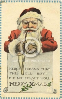 Pay for Vintage Christmas Card Santa Claus